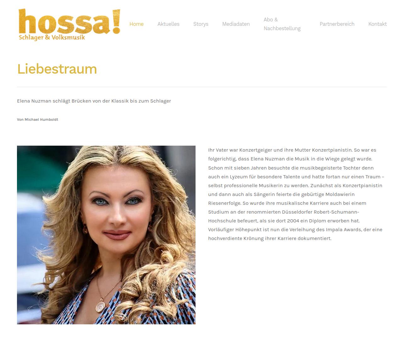 Elena Nuzman - News - hossa-magazin.de - September 2021