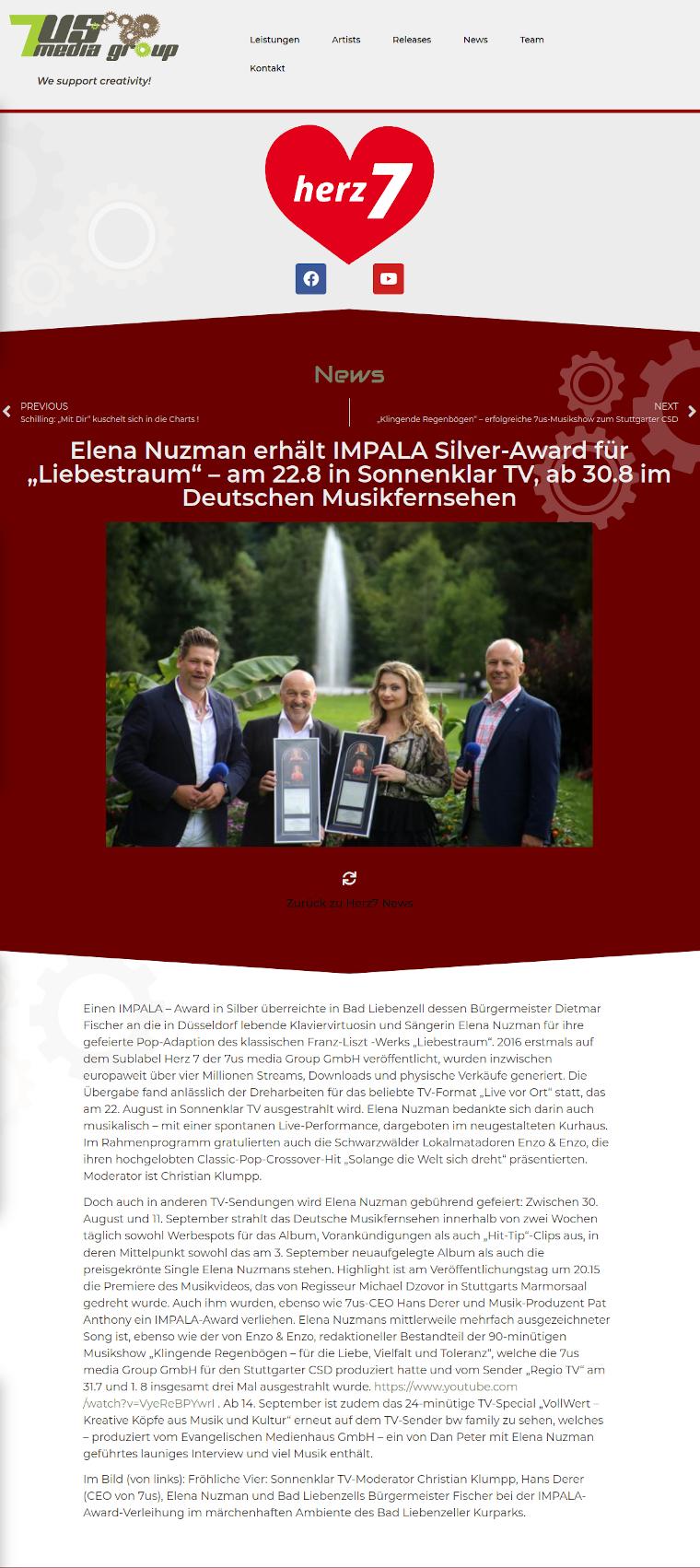 Elena Nuzman - Aktuell - IMPALA Silver-Award - August 2021