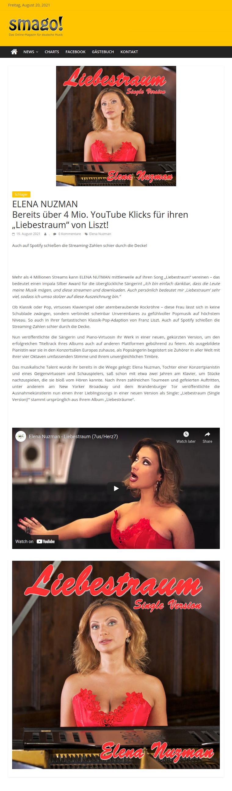 Elena Nuzman - News - smago.de - August 2021