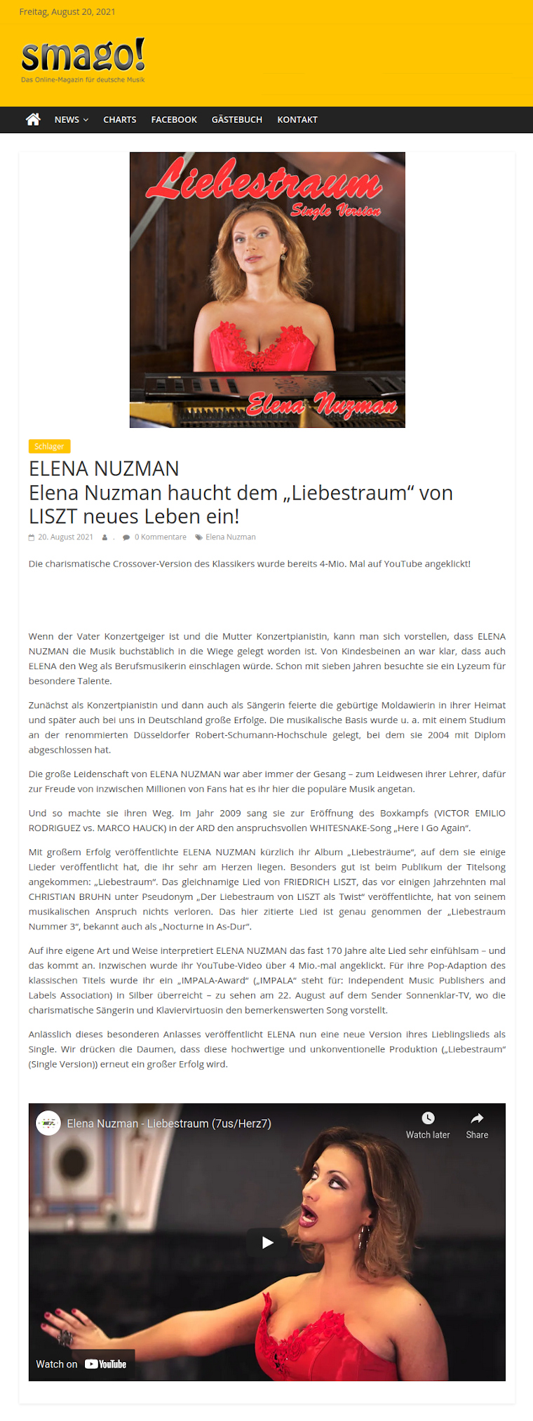 Elena Nuzman - Aktuell - smago.de - August 2021
