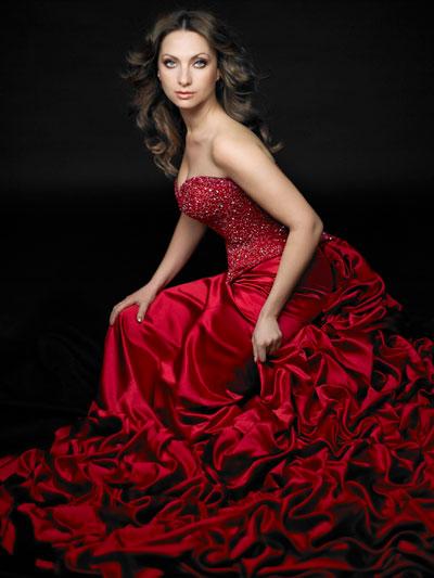 Elena Nuzman - Kleid rot