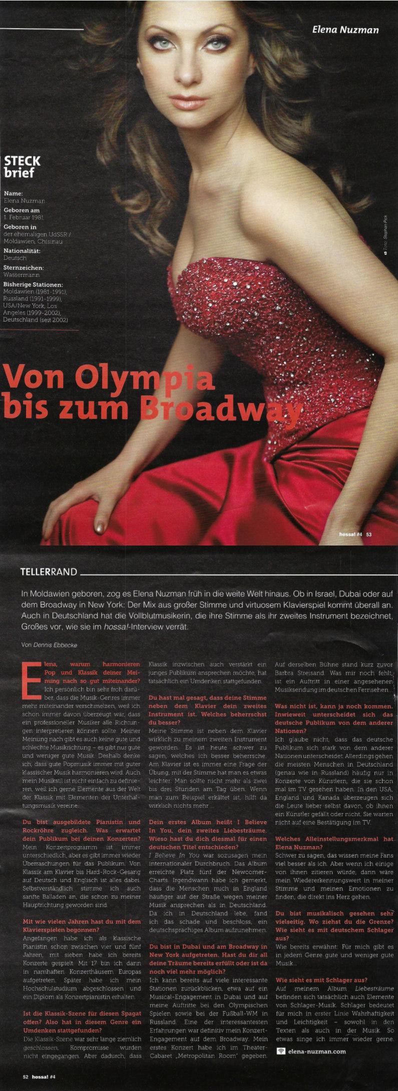 Elena Nuzman - hossa! - Magazin - March 2019