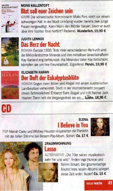 Elena Nuzman - Neue Woche - August 2009