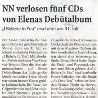 Elena Nuzman - Niederrhein Nachrichten - July 2009